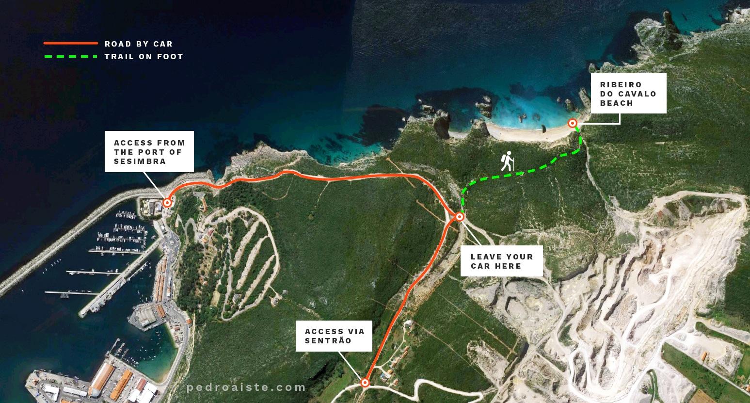 how to get to ribeiro do cavalo beach